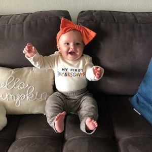 Thanksgiving baby outfit set